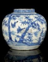 A BLUE AND WHITE LOBED JAR,WANLI (1573-1619) -  - 中国进出口瓷器 - 2009秋季拍卖会(二) -收藏网