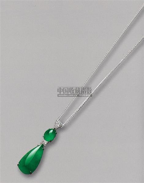 天然翡翠配钻石吊坠 -  - 珠宝翡翠 - 2010年春季拍卖会 -收藏网