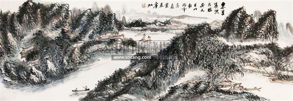 山水 镜片 - 116142 - 中国书画 - 2011年春季艺术品拍卖会 -收藏网