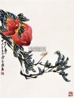 多寿 立轴 纸本设色 - 齐良迟 - 中国书画(三) - 2011春季艺术品拍卖会 -收藏网