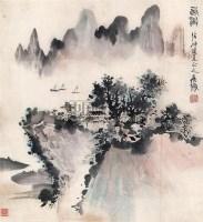 山水 立轴 设色纸本 - 1546 - 中国书画 - 2006新年拍卖会 -收藏网