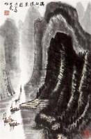 漓江胜景图 立轴 设色纸本 - 139817 - 艺海撷珍—书画艺术品专场 - 2011年秋季拍卖会 -收藏网