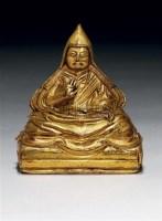 鎏金铜宗喀巴坐像 -  - 中国瓷器工艺品 - 2009秋季拍卖会(一) -收藏网