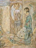 倾诉 布面油画 - 140578 - 中国油画 - 2005秋季大型艺术品拍卖会 -收藏网