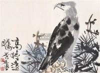 松鹰图册页 镜心 设色纸本 - 17529 - 中国书画 - 2005秋季艺术品拍卖会 -收藏网