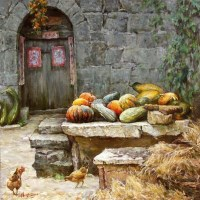 又是一个丰收年 布面油画 - 52452 - 当代名家油画 - 澄怀万象——2011秋季艺术品拍卖会 -收藏网