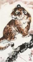 小虎 挂轴                                设色纸本 - 吴勋 - 聚虎堂藏中国书画 - 2011春季艺术品拍卖会 -收藏网