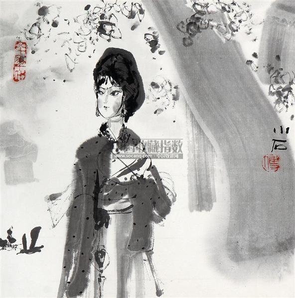 人物 镜片 水墨纸本 - 115956 - 中国书画一 - 2011春季艺术品拍卖会 -收藏网