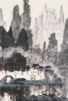 清漓烟雨图 立轴 设色纸本 - 徐希 - 中国书画(二) - 2006年秋季拍卖会 -收藏网