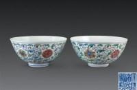 斗彩缠枝莲碗 (一对) -  - 中国古董珍玩 - 2006秋季艺术品拍卖会 -收藏网