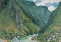 西让河发源于大神农架 纸本 油画 - 钱延康 - 中国油画 - 2006秋季大型艺术品拍卖会 -收藏网