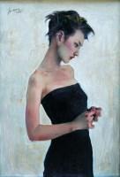 妙龄少女 纸本 丙烯 - 4655 - 名家西画 当代艺术专场 - 2008年春季拍卖会 -中国收藏网