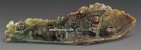 和田青玉渔家乐摆件 -  - 古董珍玩 - 2011春季艺术品拍卖会 -收藏网