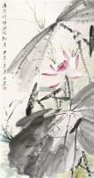 荷花 立轴 设色纸本 - 唐云 - 中国书画 - 2011金秋书画精品拍卖会 -收藏网