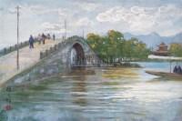西湖 布面 油画 - 颜文樑 - 中国油画 - 2006秋季大型艺术品拍卖会 -中国收藏网