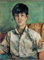 男孩肖像 布面油画 - 140413 - 油画专场 - 2006迎春首届大型艺术品拍卖会 -收藏网