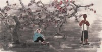 春日黄昏时 镜心 设色纸本 - 张立柱 - 中国当代水墨 - 2006秋季拍卖会 -收藏网