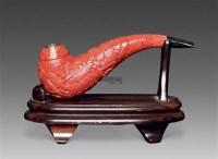 福禄寿辣纹椒红珊瑚烟嘴 -  - 瓷杂 - 五周年秋季拍卖会 -中国收藏网