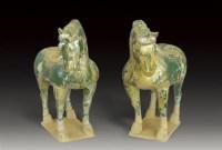 绿陶马(一对) -  - 瓷器 - 2007年春季大型艺术品拍卖会 -收藏网