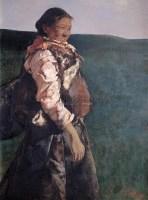 何卫 藏女 布面油画 -  - 中国油画 - 2006秋季艺术品拍卖会 -收藏网