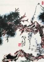 松 立轴 设色纸本 - 123081 - 中国书画 - 2008太平洋迎春艺术品拍卖会 -收藏网