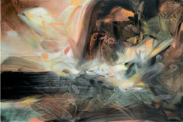 朱德群 昏暗的地平线 - 119074 - 中国当代艺术(一) - 2007春季拍卖会 -收藏网