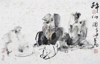 醉仙图 镜心 设色纸本 - 116212 - 当代书画名家精品专场 - 2008春季拍卖会 -收藏网