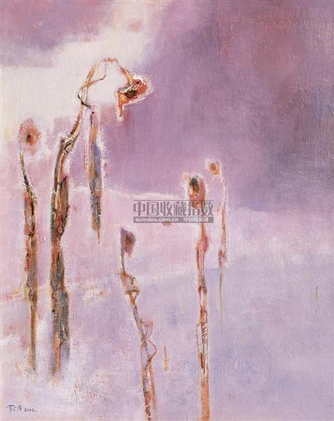雪地上的葵花 布面油彩 - 140873 - 中国油画(二) - 2006年中国艺术品春季拍卖会 -收藏网