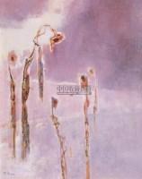 雪地上的葵花 布面油彩 - 张钦若 - 中国油画(二) - 2006年中国艺术品春季拍卖会 -收藏网