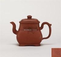 荆溪款 四方束竹壶 -  - 中国当代高端工艺品 - 2011年春季拍卖会 -收藏网