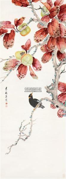 花鸟 立轴 纸本 - 1000 - 中国书画 - 2011年秋季艺术品拍卖会 -收藏网