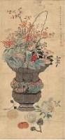 清供图 立轴 设色绢本 - 恽冰 - 中国书画 - 2007年夏季拍卖会 -收藏网