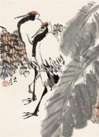 鹤寿 立轴 纸本 - 114744 - 保真作品专题 - 2011春季书画拍卖会 -收藏网