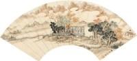 山水人物 扇面 设色纸本 - 高翔 - 中国书画(一) - 2010秋季艺术品拍卖会 -收藏网