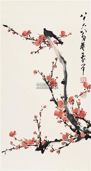 梅花 镜心 设色纸本 - 116631 - 中国书画(一) - 2006年秋季拍卖会 -收藏网