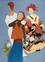 李云 2002年作 现代淑女之一 布面 油画 - 156763 - 中国当代油画 - 2006首届中国国际艺术品投资与收藏博览会暨专场拍卖会 -收藏网