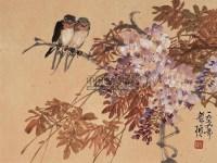 花鸟 镜心 纸本设色 -  - 中国书画 - 2005年春季拍卖会 -收藏网