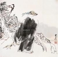 松下高士图 镜片 纸本 - 114744 - 中国书画 - 2011年春季拍卖会 -收藏网