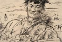 艾轩 2002年作 唐克草原 纸上素描 - 艾轩 - 西洋美术 - 2006秋季大型艺术品拍卖会 -收藏网
