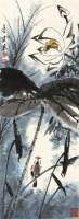 荷花 立轴 设色纸本 - 117343 - 中国书画(一) - 2011书画精品拍卖会 -收藏网