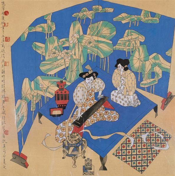 弦响 镜心 设色绢本 - 130907 - 中国当代水墨 - 2006秋季拍卖会 -收藏网