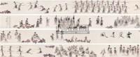 云裳春风 手卷 设色纸本 - 叶毓中 - 《当代中国画风貌》出版作品 - 第51期中国书画精品拍卖会 -收藏网