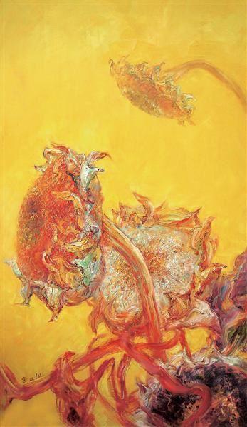 雷双 2006年作 向日葵系列 布面 油画 - 1530 - 中国当代油画 - 2006首届中国国际艺术品投资与收藏博览会暨专场拍卖会 -收藏网