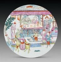 粉彩人物圆光瓷板画 -  - 古董珍玩 - 2011春季艺术品拍卖会 -收藏网