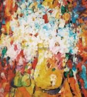 花瓶 布面油画 - 金纪发 - 亚洲私人藏中国写实油画(荷兰式拍卖) - 2011年秋季拍卖会 -中国收藏网