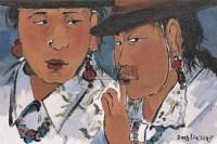藏族姐妹 布面油画 - 106468 - 中国油画(一) - 2006年中国艺术品春季拍卖会 -收藏网