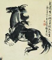 骏马图 立轴 设色纸本 - 114744 - 中国书画 - 2007春季中国书画拍卖会 -中国收藏网