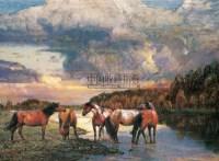 马 布面 油画 - 刘剑波 - 油画、雕塑、版画暨广东油画、水彩 - 2006冬季拍卖会 -收藏网