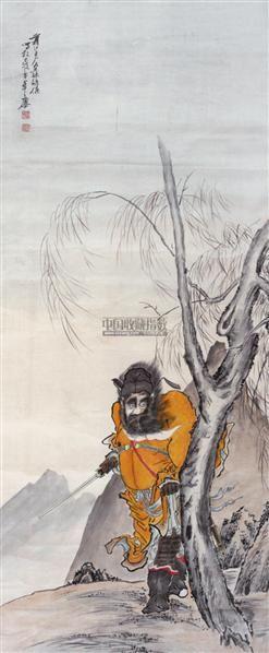 人物 立轴 纸本 - 139816 - 中国书画 - 2011中国艺术品拍卖会 -收藏网