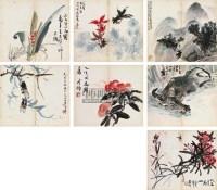 册页 册页 (八开选七) 设色纸本 -  - 中国书画(一) - 2011春季艺术品拍卖会 -收藏网